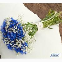 Свадебный букет из васильков