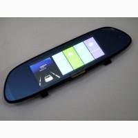 DVR V9TP Full HD Зеркало с видео регистратором с ТРЕМЯ камерами. 5 Сенсорный экран