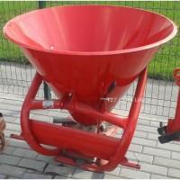 Разбрасыватель удобрений 300 кг однодисковый, металл - пластик (Польша)