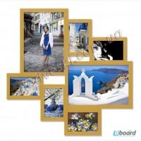 Рамки для фотографий деревянные серия Волна