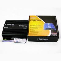 Усилитель X-8000USB - Bluetooth, USB, SD, FM, MP3! 2800W 4х канальный