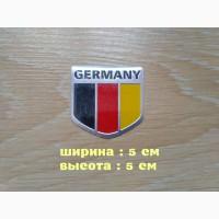 Наклейка на авто Флаг Германии алюминиевая