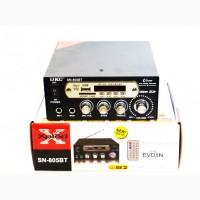Стерео усилитель с LED дисплеем Bluetooth UKC Black UKC SN-805BT