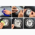 Наклейки на ручки, диски авто 13.4 см Спорт светоотражающая Тюнинг авто