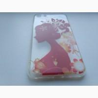 Чехол силиконовый с принтом на iphone 7