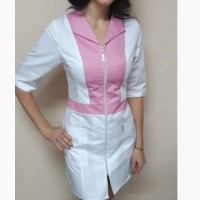Женский медицинский халат на молнии
