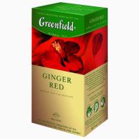Чай пакетированный фруктовый Greenfield Ginger Red 25шт с ароматом имбиря и шиповника