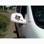 Наклейки на авто на зеркала заднего вида КРЫЛЬЯ светоотражающая Тюнинг авто