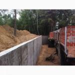 Бетонирование подпорной стены бетонные работы