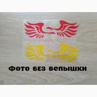 Наклейка на авто Крылья на авто Желтый и Красный светоотражающие