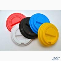 Крышки цветные к бумажным стаканам