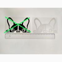 Наклейка на авто Собачка светоотражающая Тюнинг авто