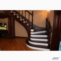 Лестница из дерева. Ступени на металлокаркас или бетонное основание