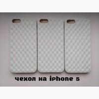 Чехол Бампер на iPhone 5 Белый немного с лимонным оттенком