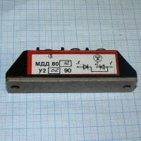 Силовые диодные модули МДД-80-12 (Мощная диодная сборка МДД80-12 из двух диодов)