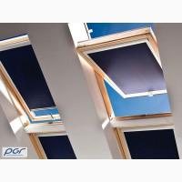 Рулонные шторы, тканевые роллеты на мансардные окна