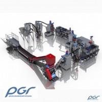 Оборудование по переработке загрязненного полимерного сырья (пэт, пнд, пп, пвд, па и др.)