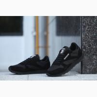 Кроссовки Reebok CL Leather Suede Black Черные мужские