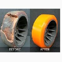 Полиуретановое покрытие роликов, валов, колес. Изготовление и поставка