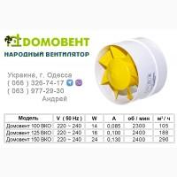 Бытовые вентиляторы ДОМОВЕНТ серии ВКО