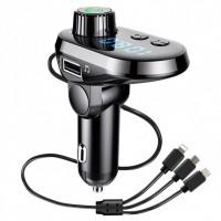 Автомобильный FM трансмиттер модулятор Q15 Bluetooth