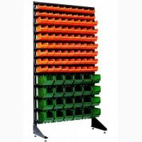 Стеллаж с ящиками пластмассовыми под запчасти на СТО или мастерскую в Мариуполе